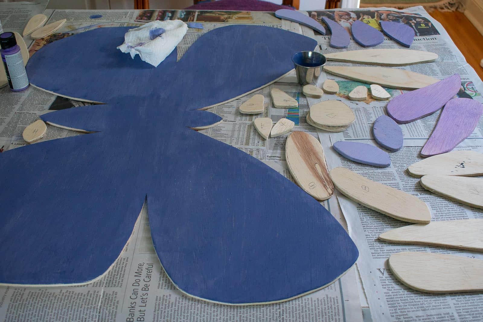 paint the butterfly pieces