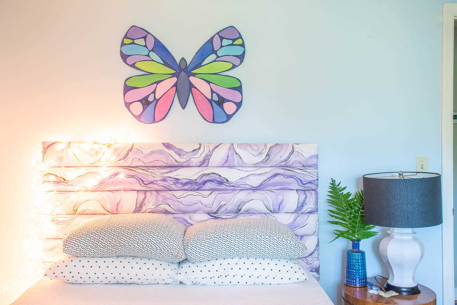 colorful diy wooden butterfly