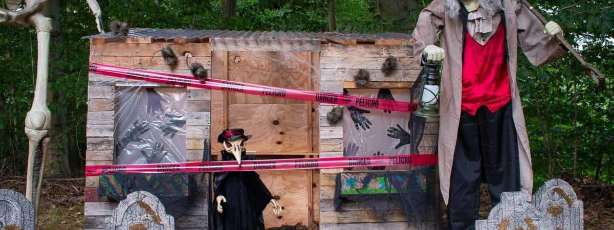 Smoky Halloween Graveyard