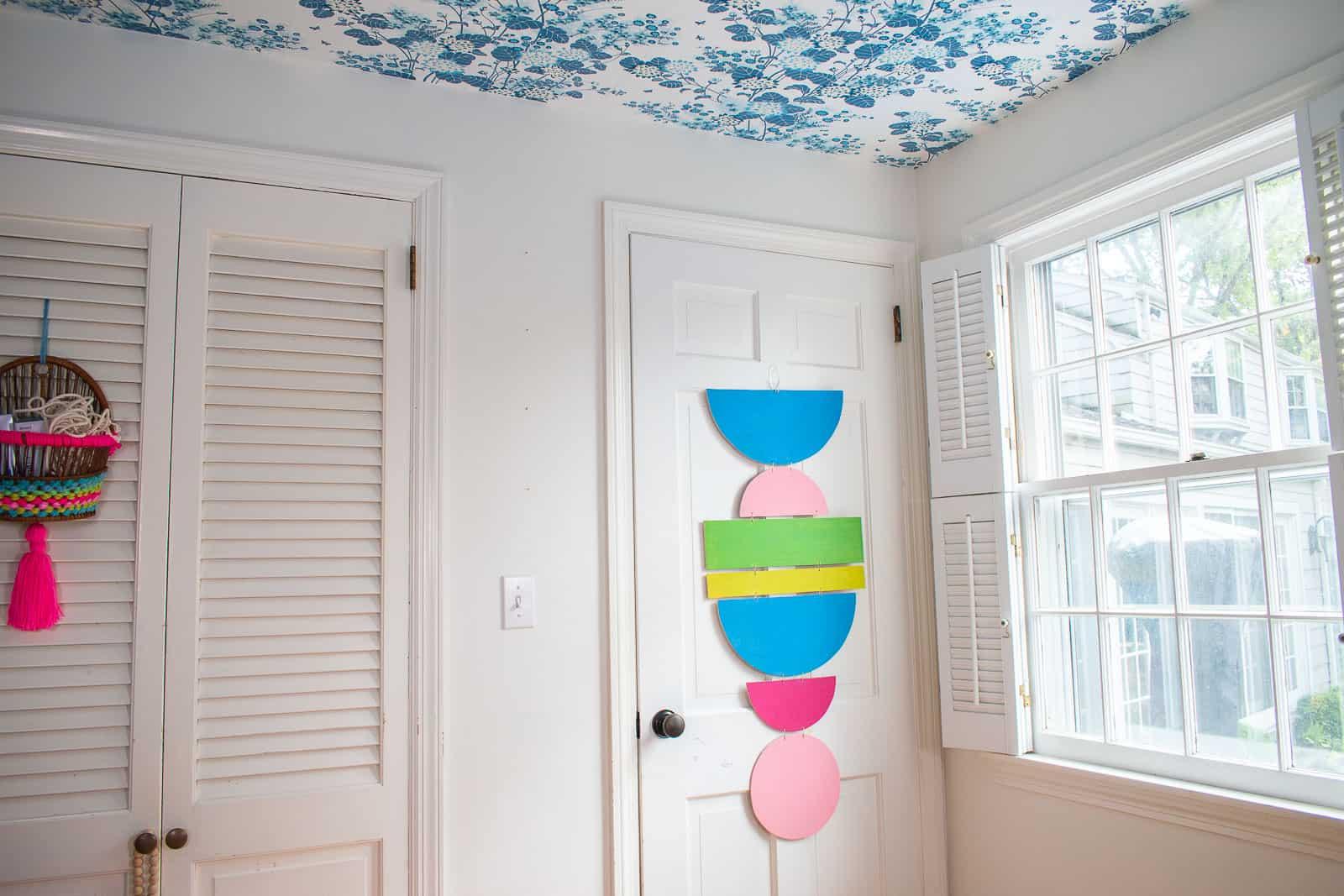 geometric wall hanging