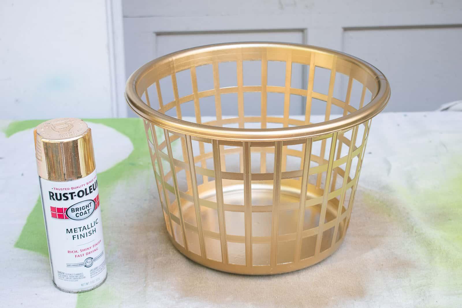 spray paint the basket