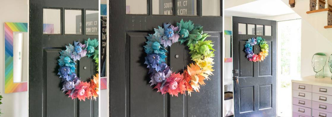 Colorful Painted Fall Wreath