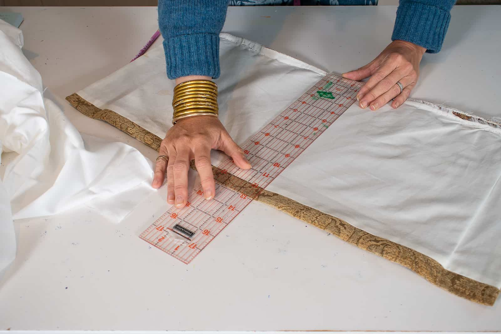 measure the old fabric as template