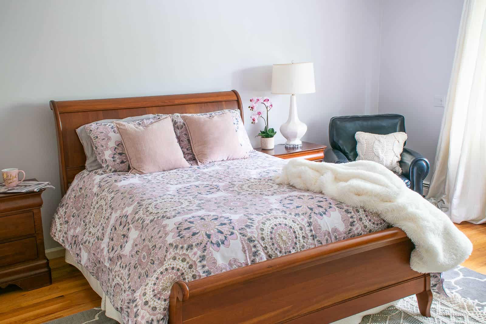 repainted relaxing bedroom