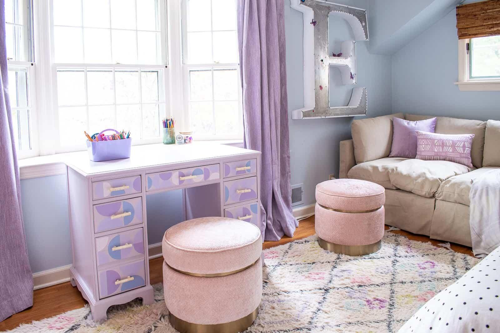 tween lavender bedroom makeover