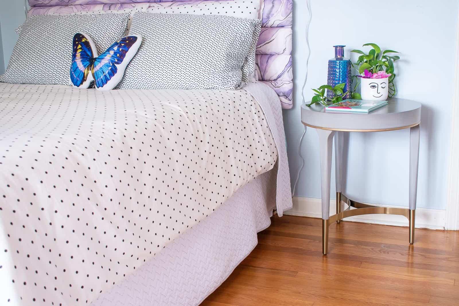 nightstand in girls room