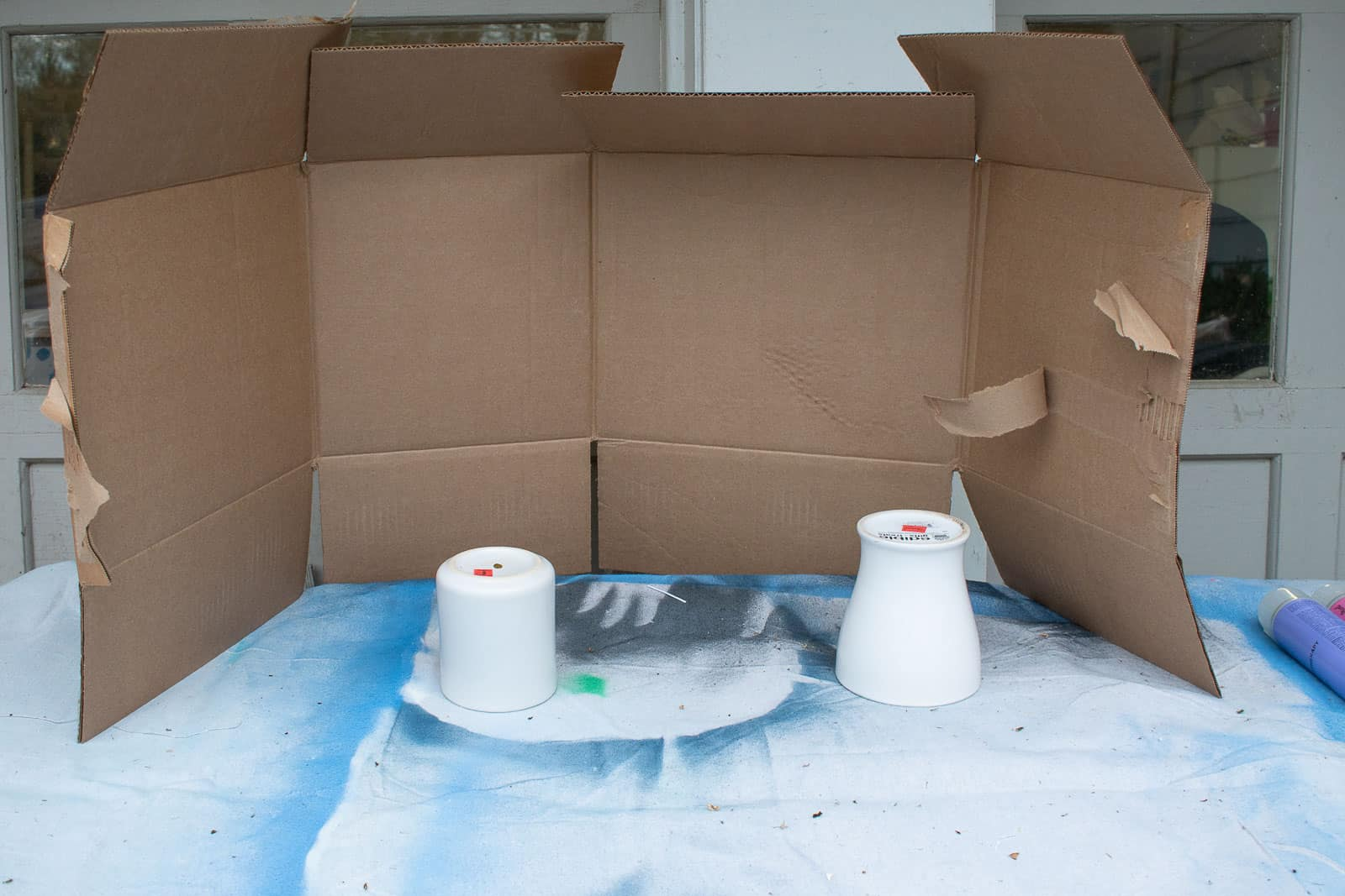 prepare the area for spray painting