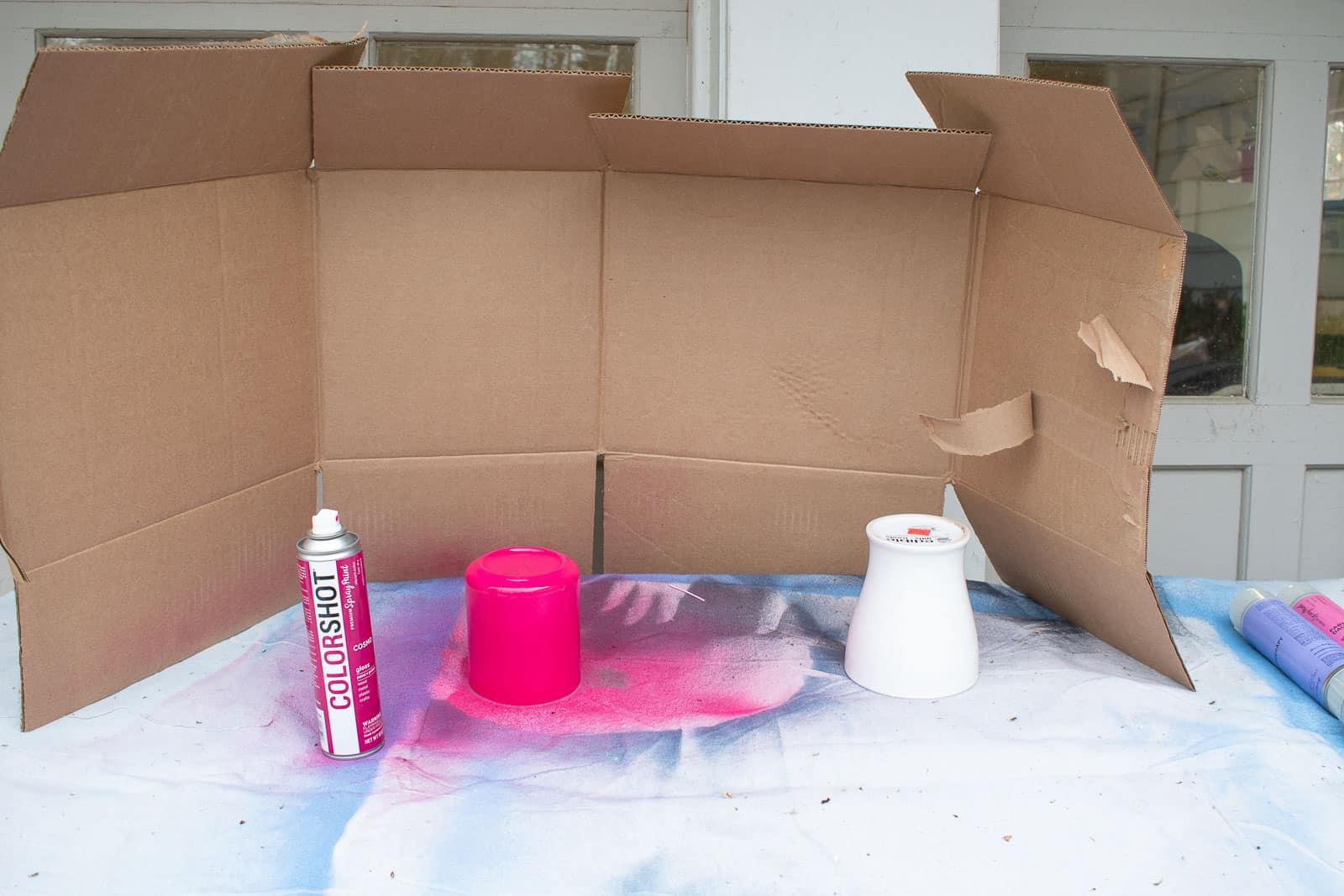 one coat of spray paint
