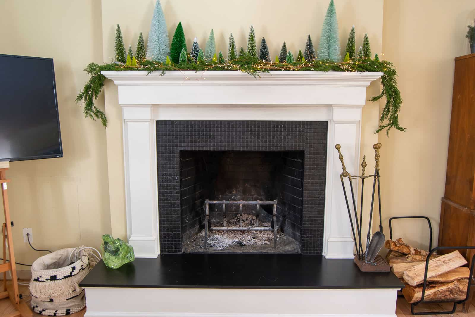 budget fireplace makeover
