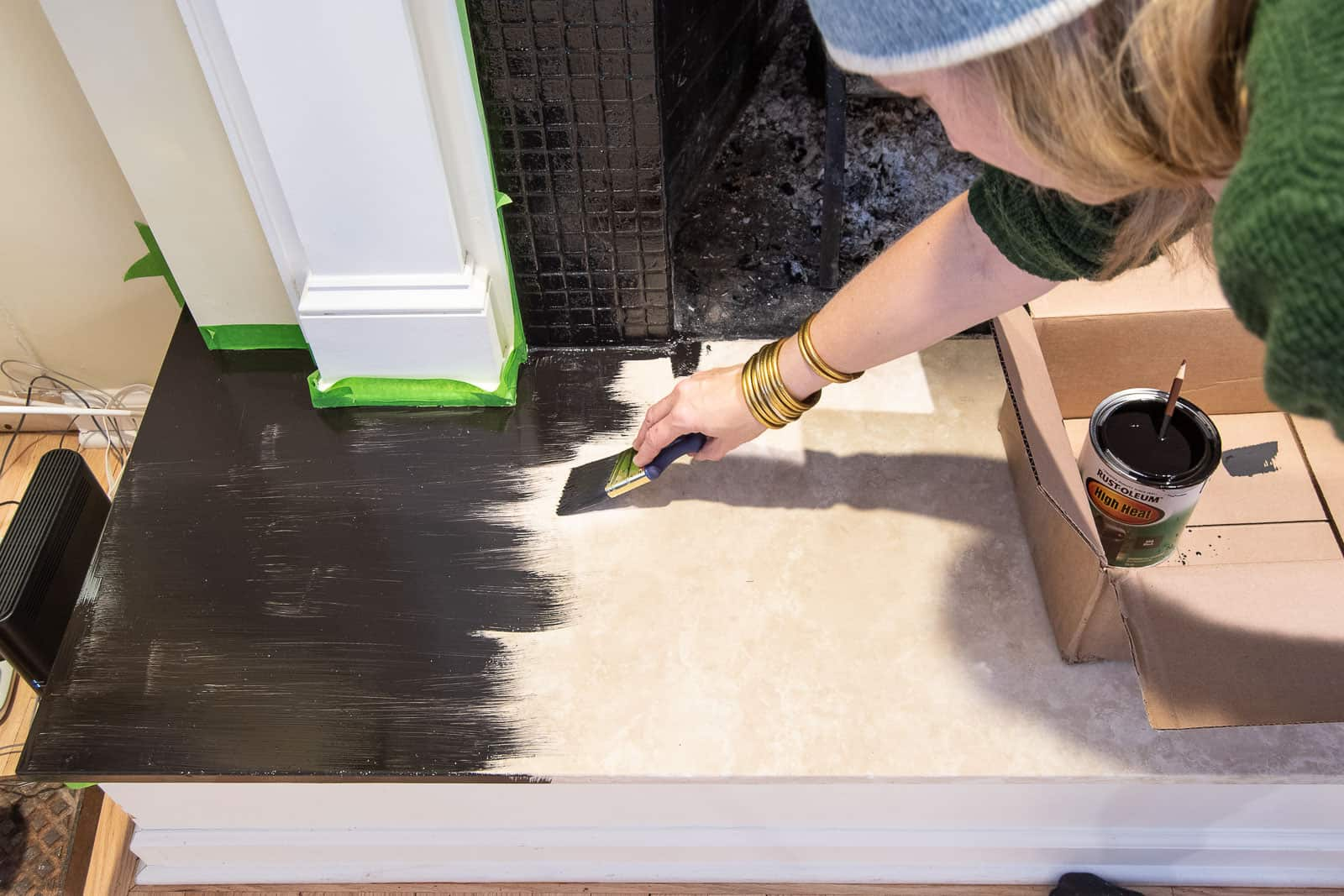 paint over hearth