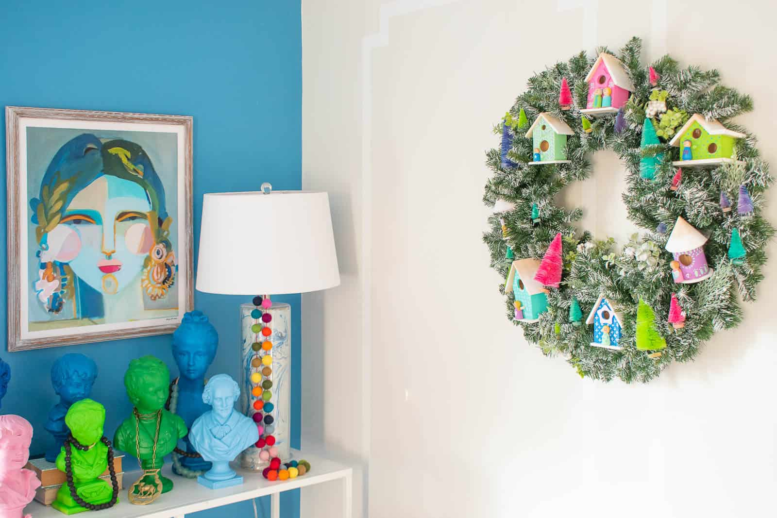 colorful neighborhood craft wreath