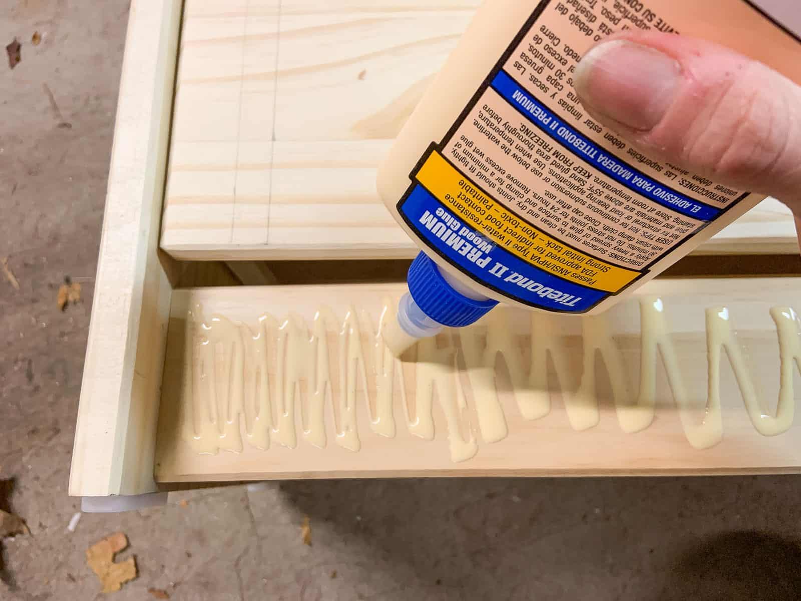 add wood to make base flush