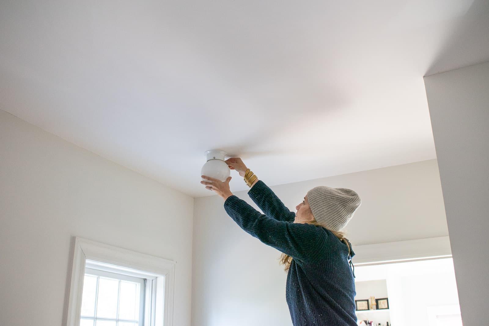 replacing a closet light