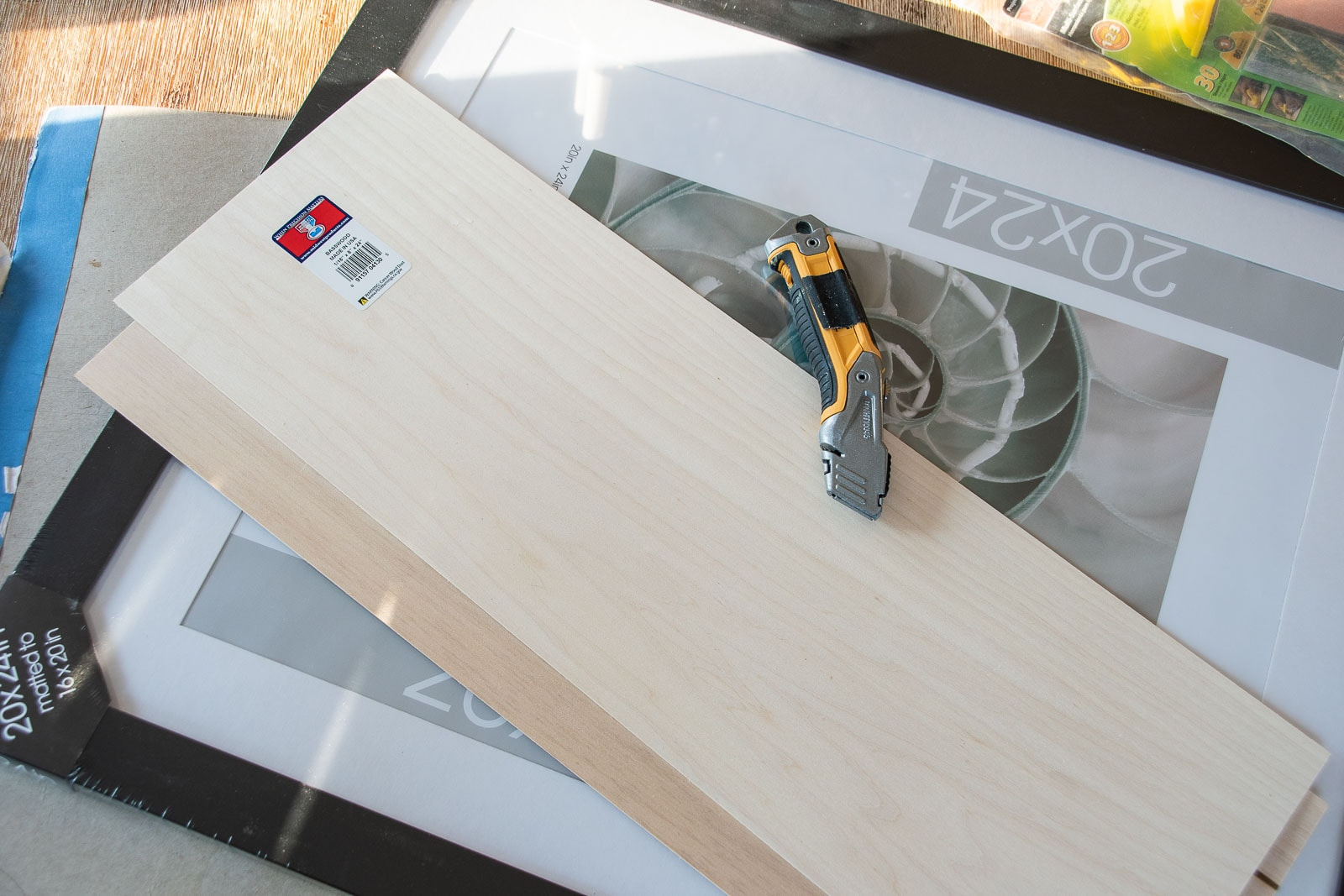 supplies for wooden picture frame