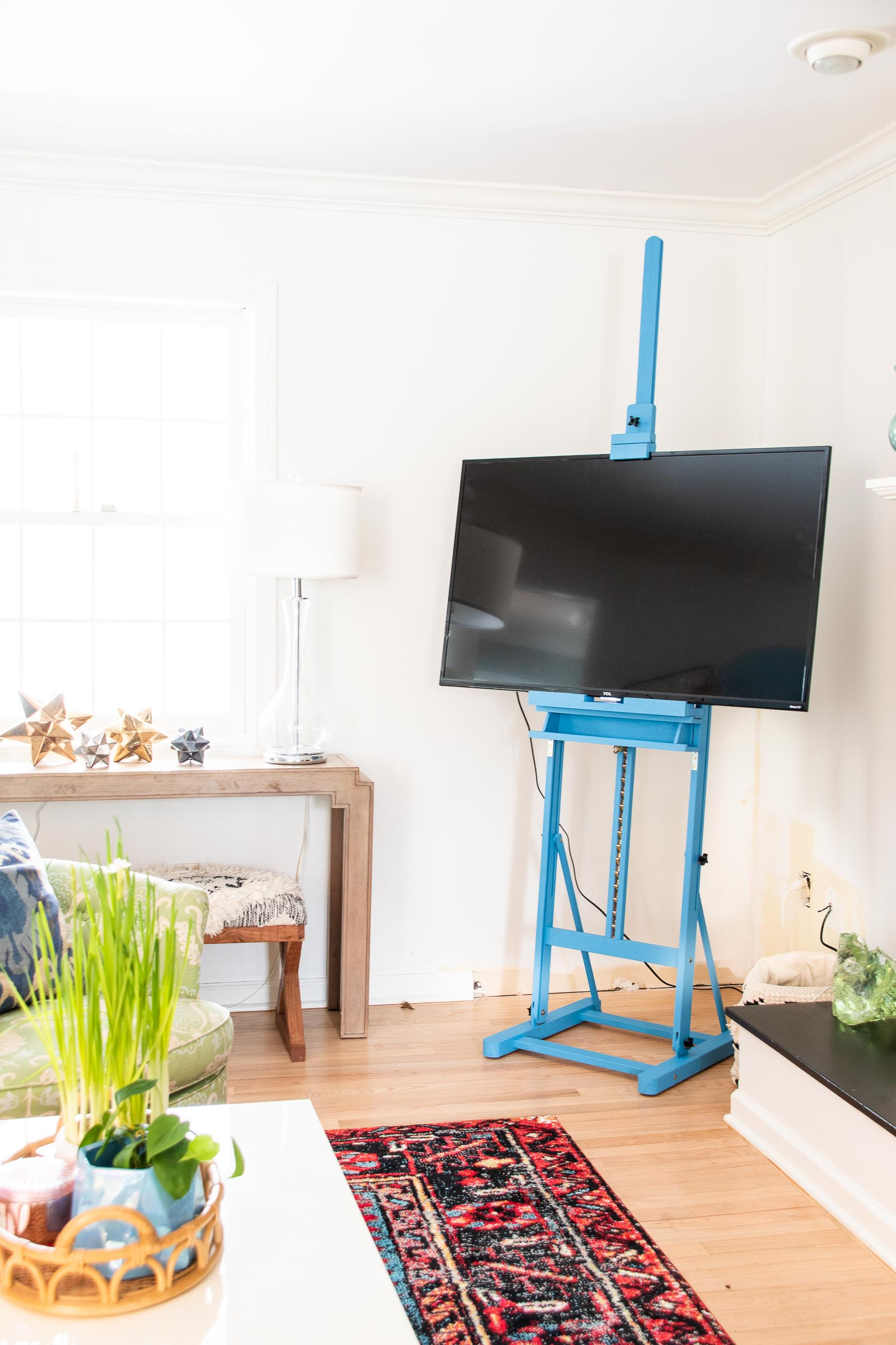 retrofitting a TV easel
