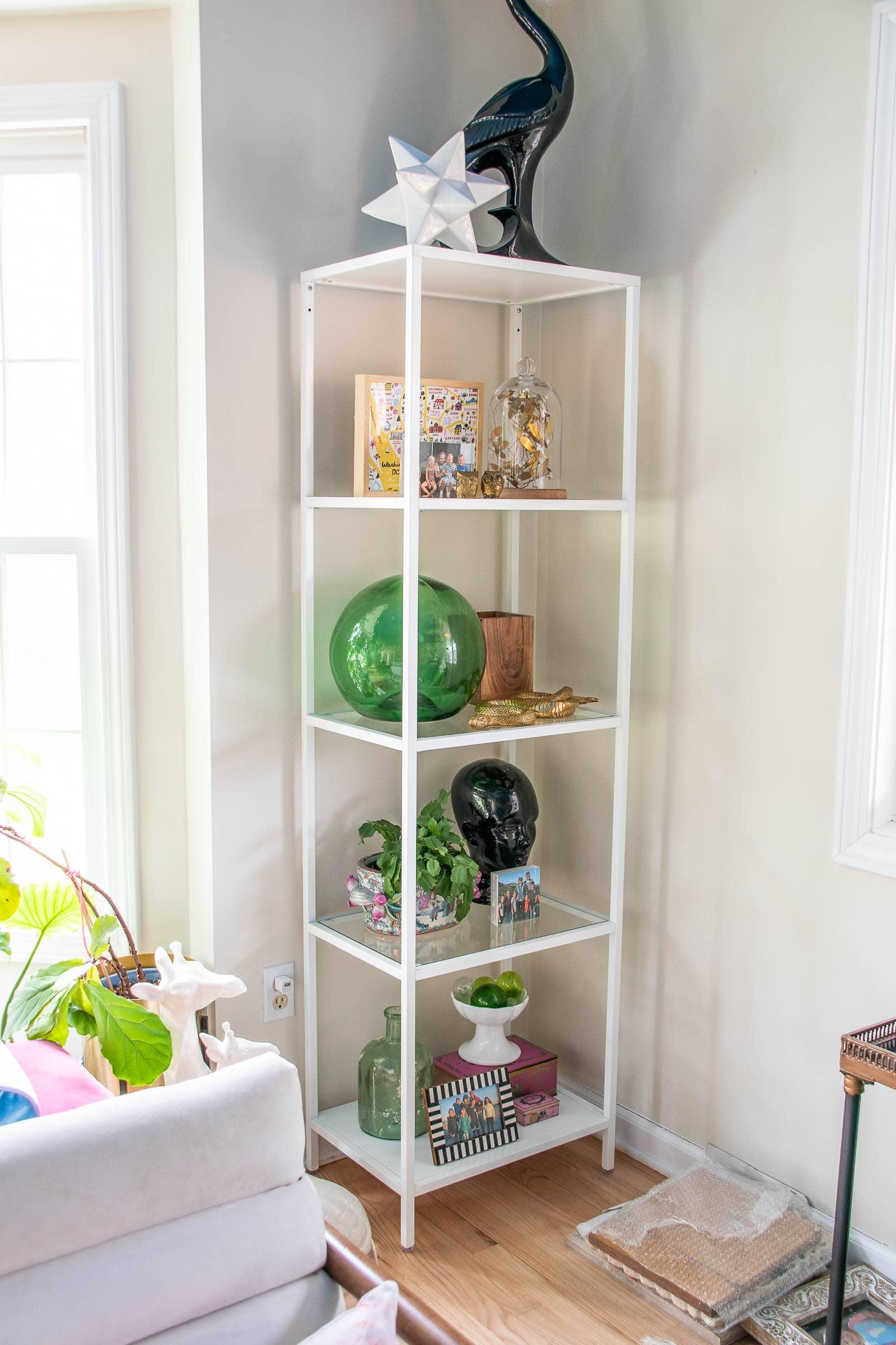 shelf styling in process