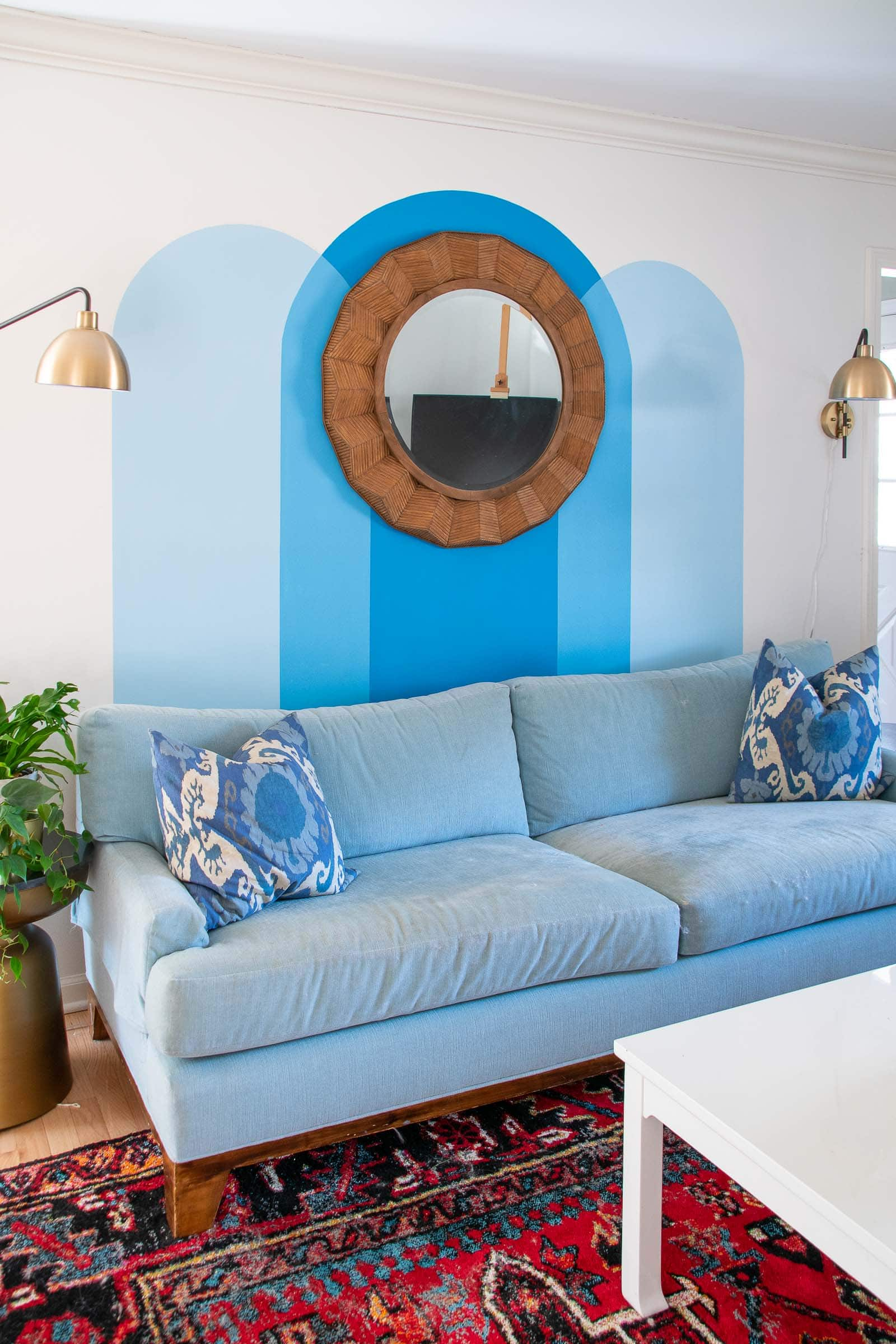 painted arch wall mural