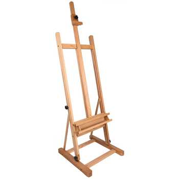 plain wooden art easel