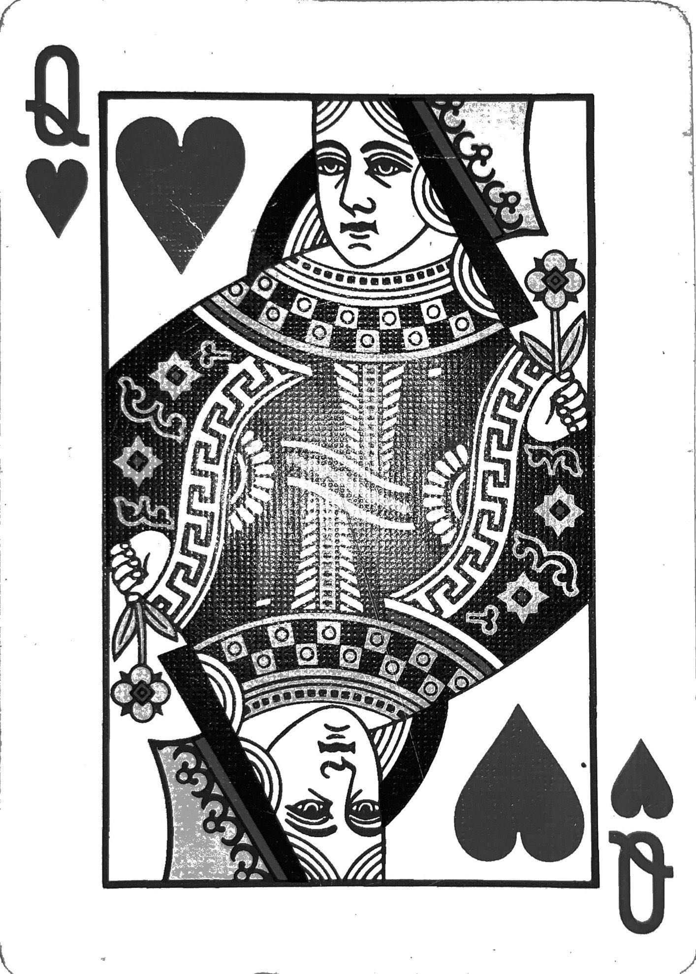 scanned queen of hearts