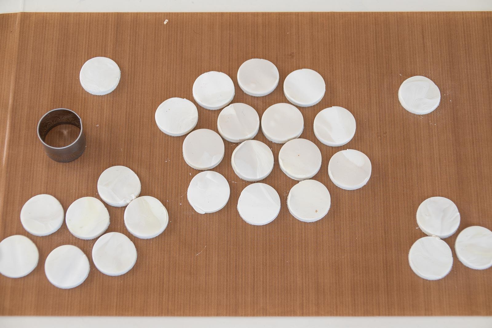 make lots of clay circles