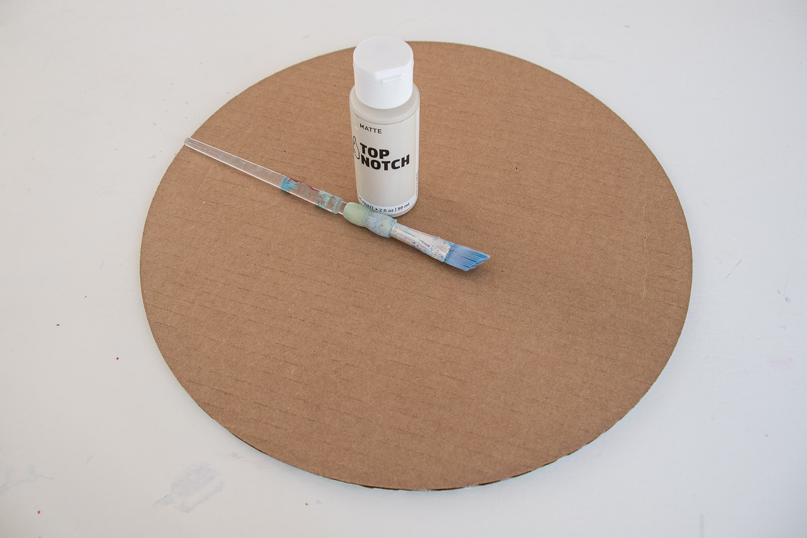 paint cardboard for mirror backing