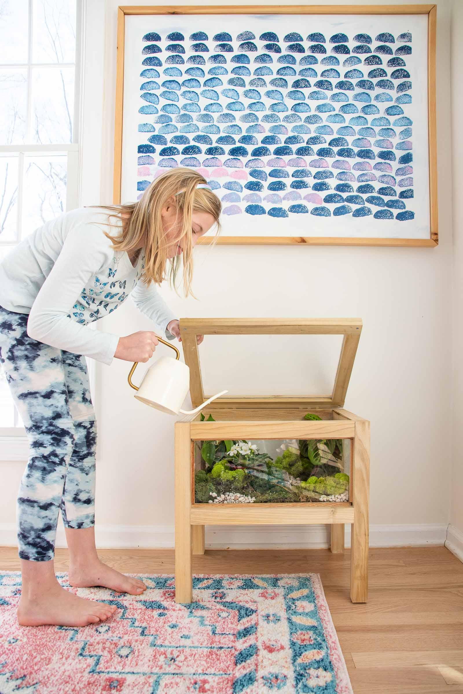 diy terrarium table