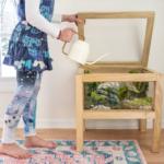 diy mossy terrarium table