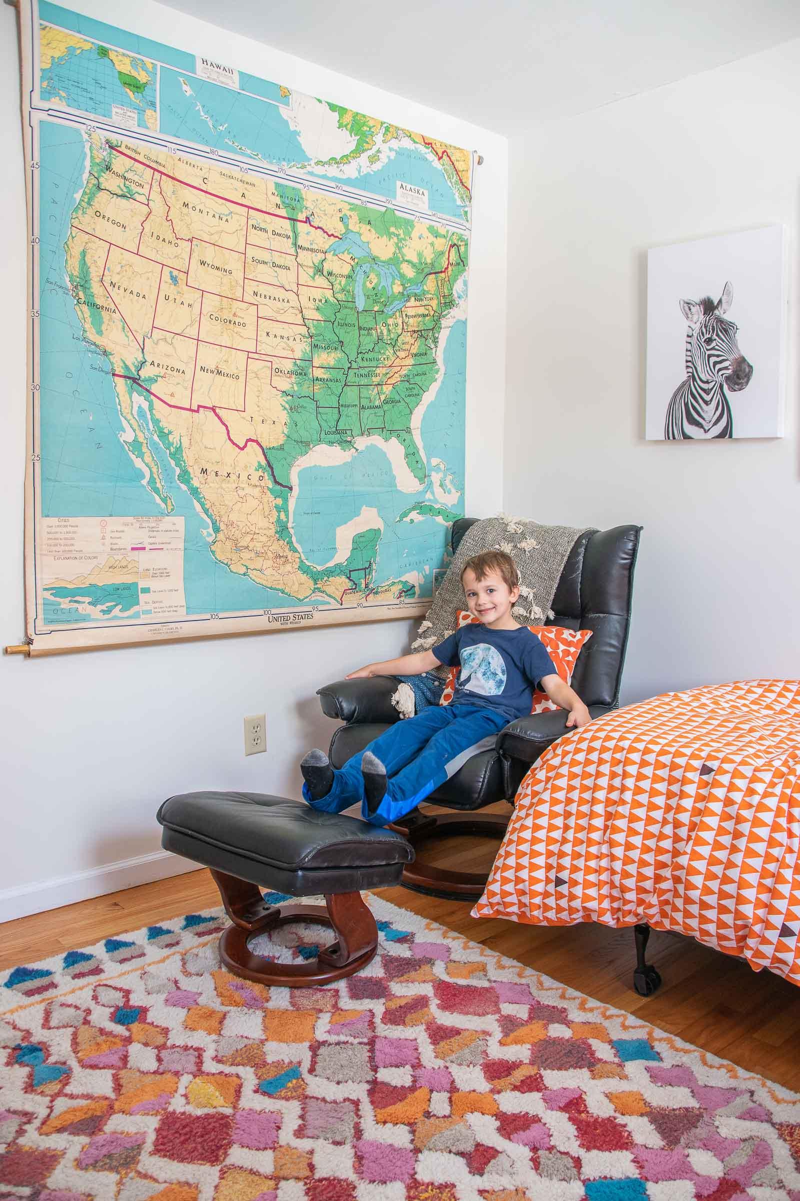 recliner in boys room