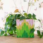 toothpick covered planter