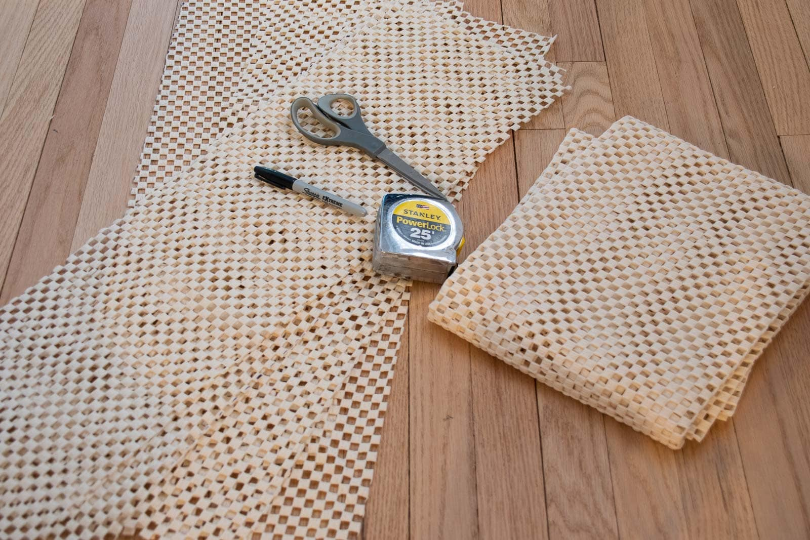 cut the rug pad down to size