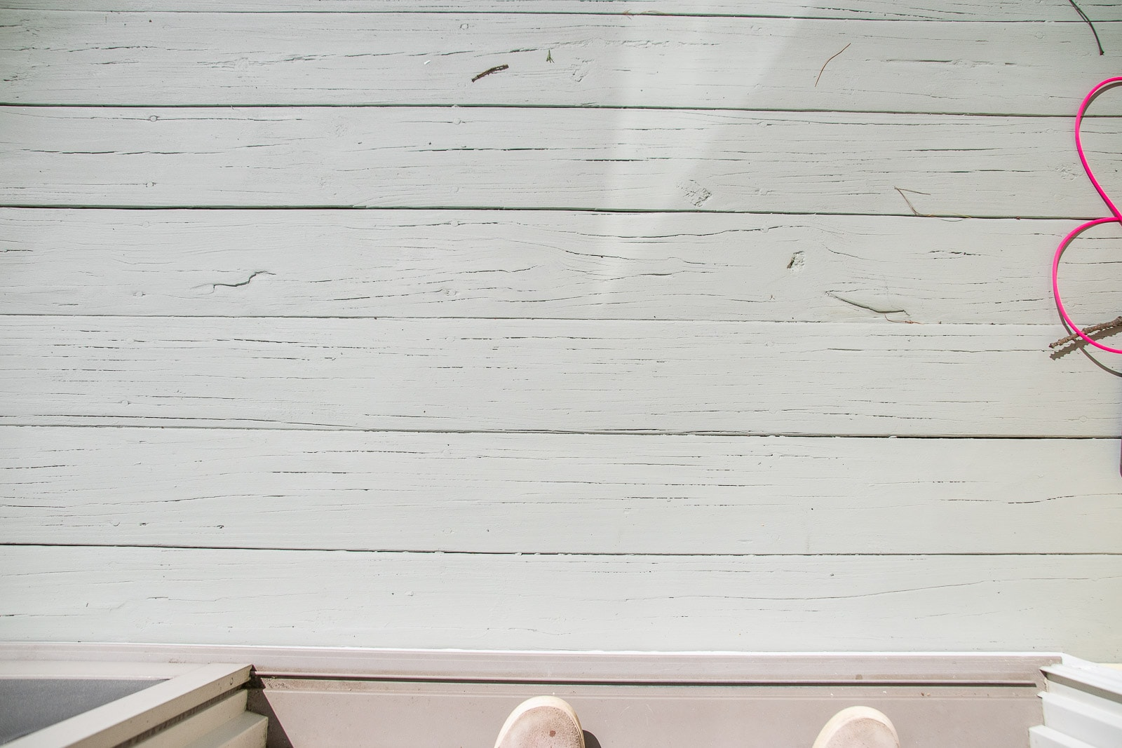 painted back deck