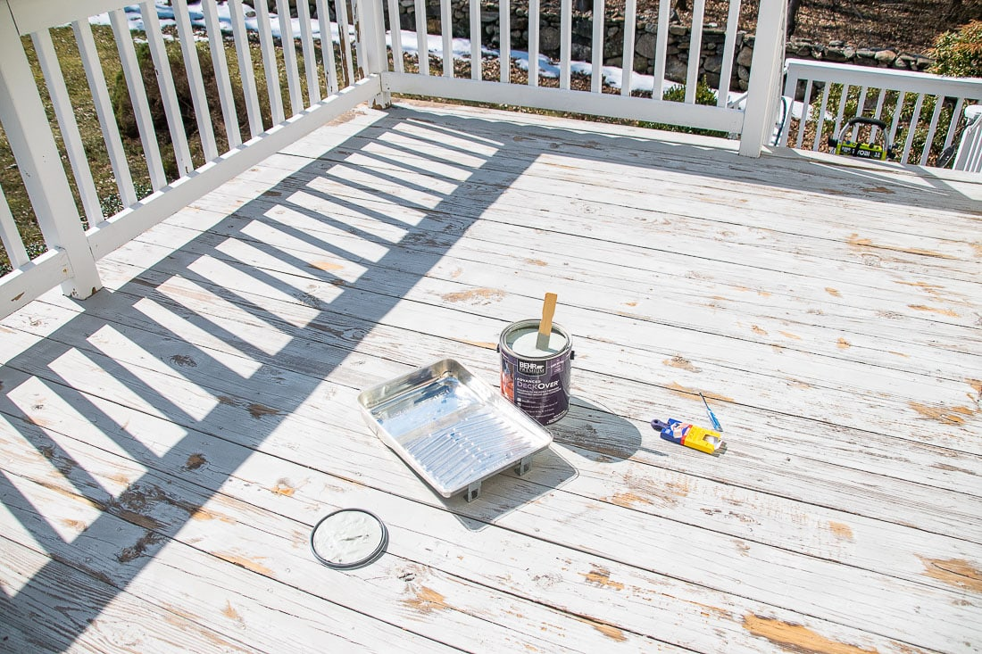 painting our wooden deck