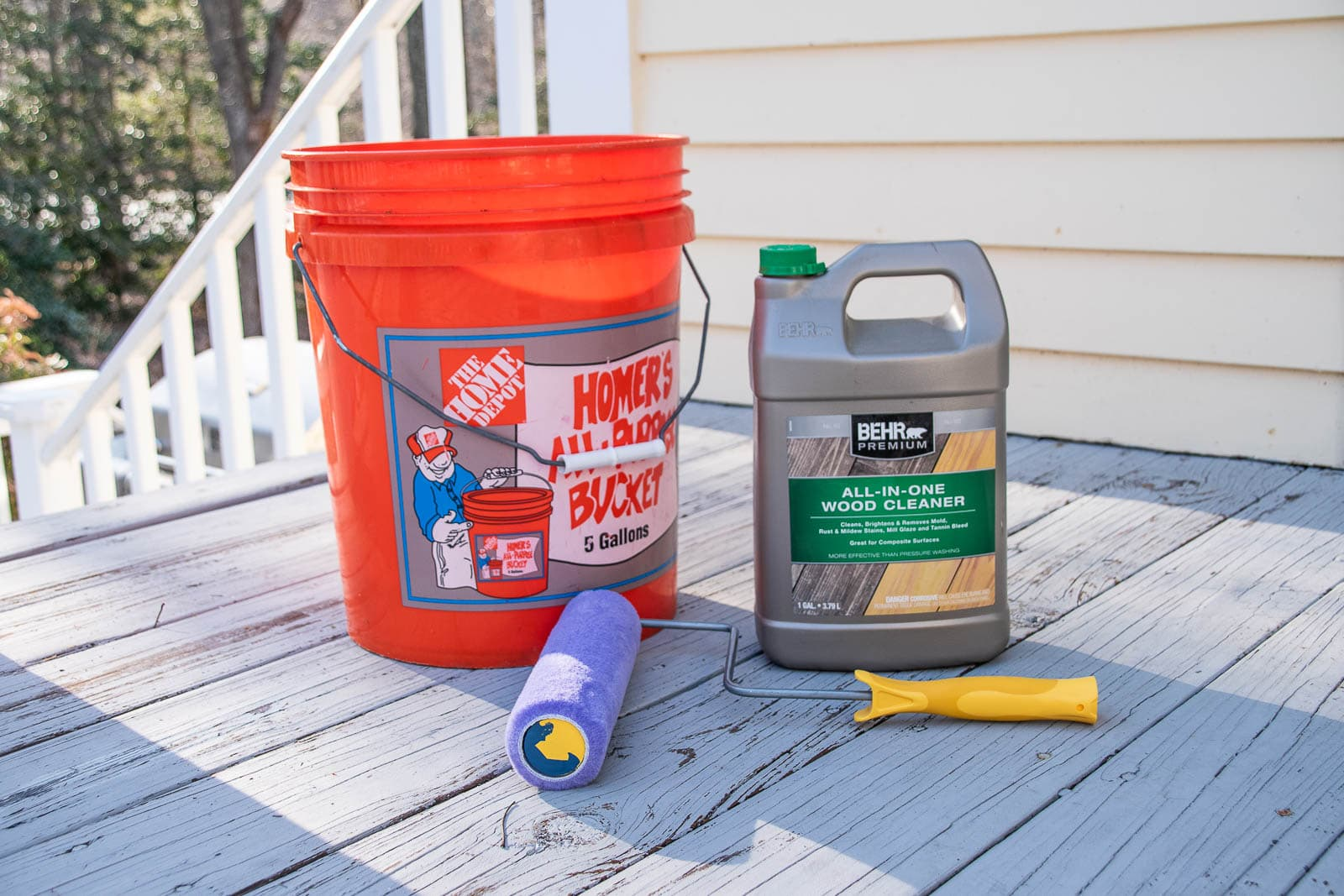 materials for deck cleaning