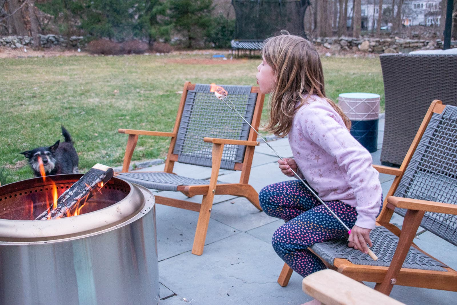 smores on back patio