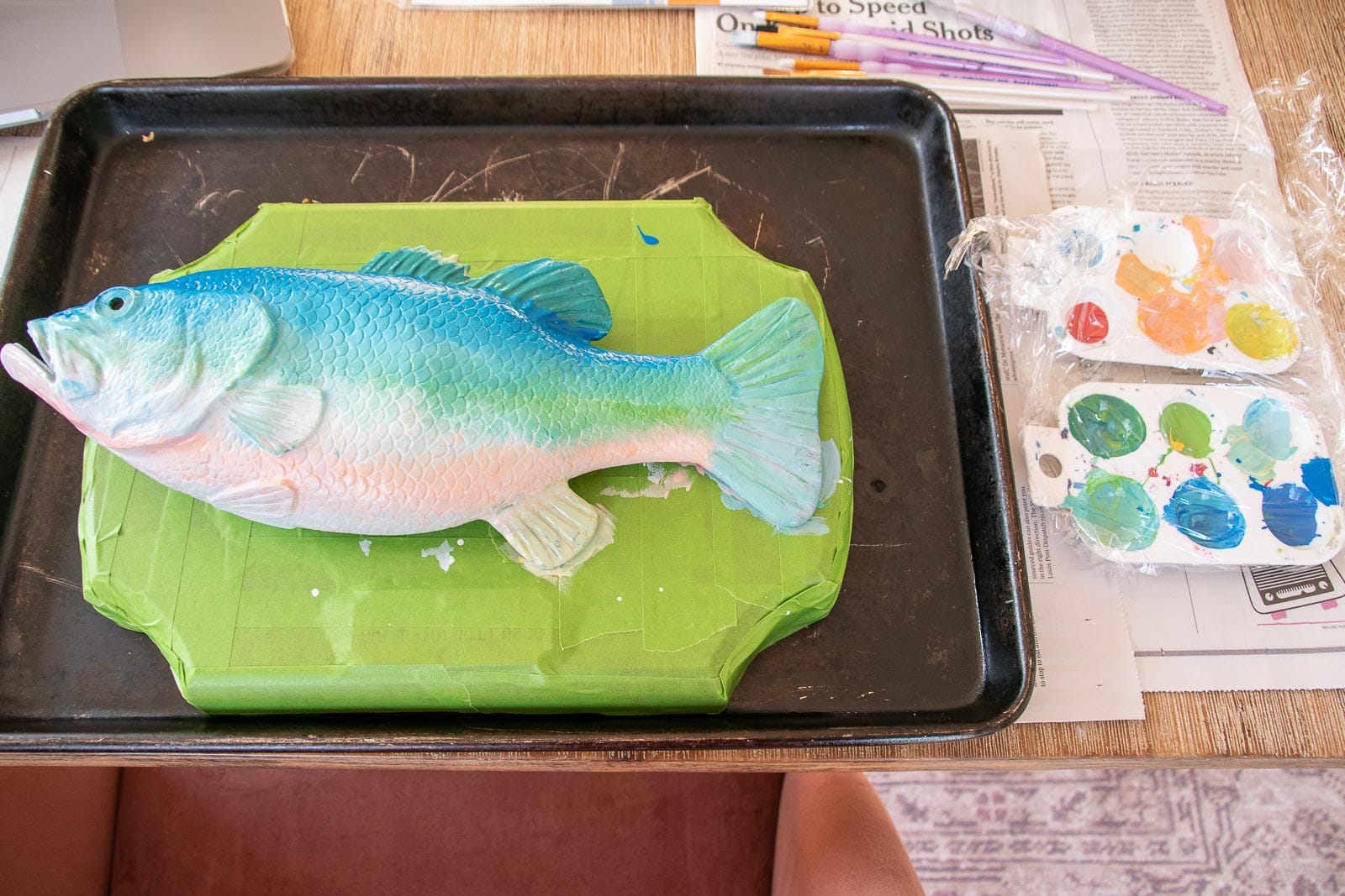 painted rubber fish