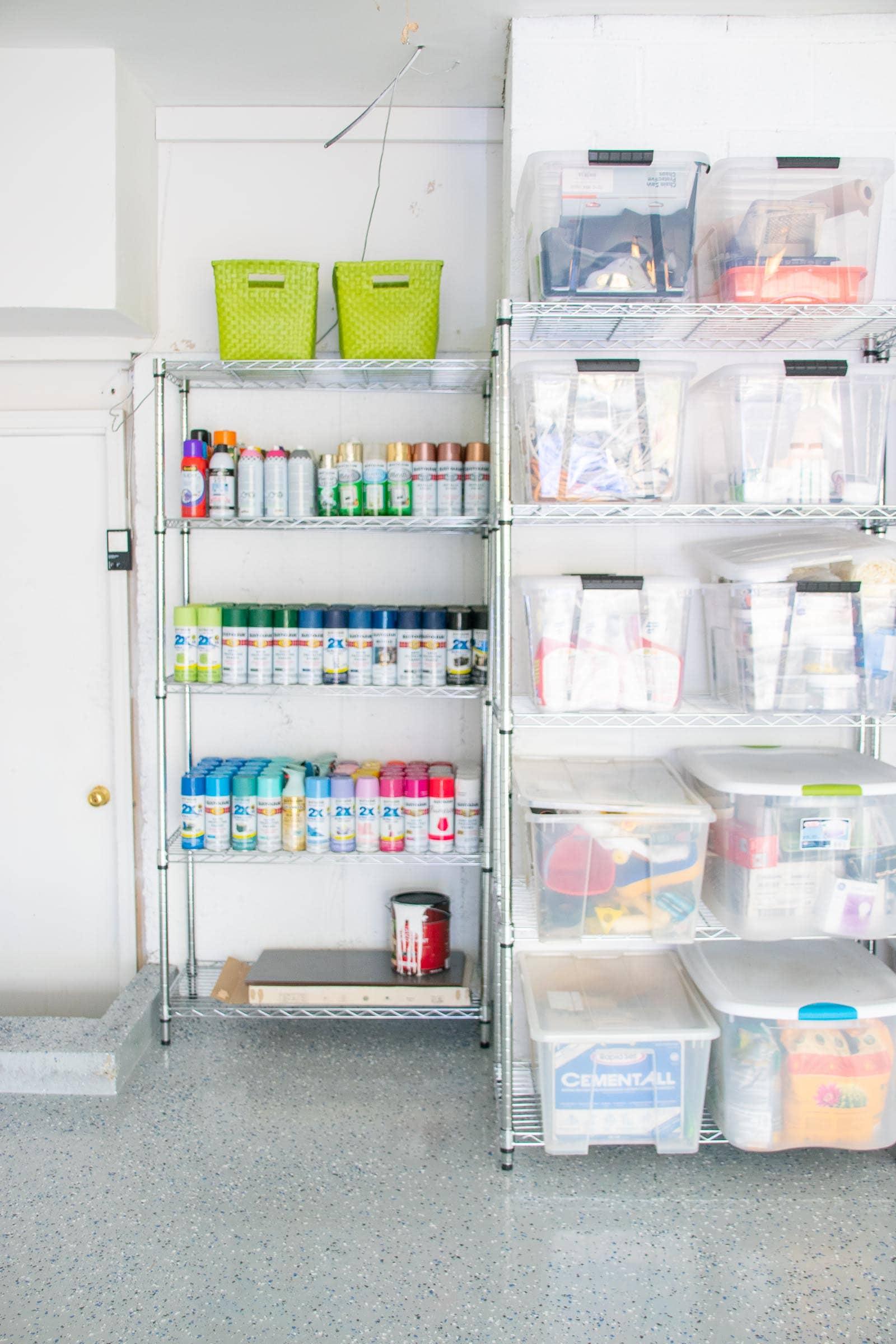 spray paint shelves