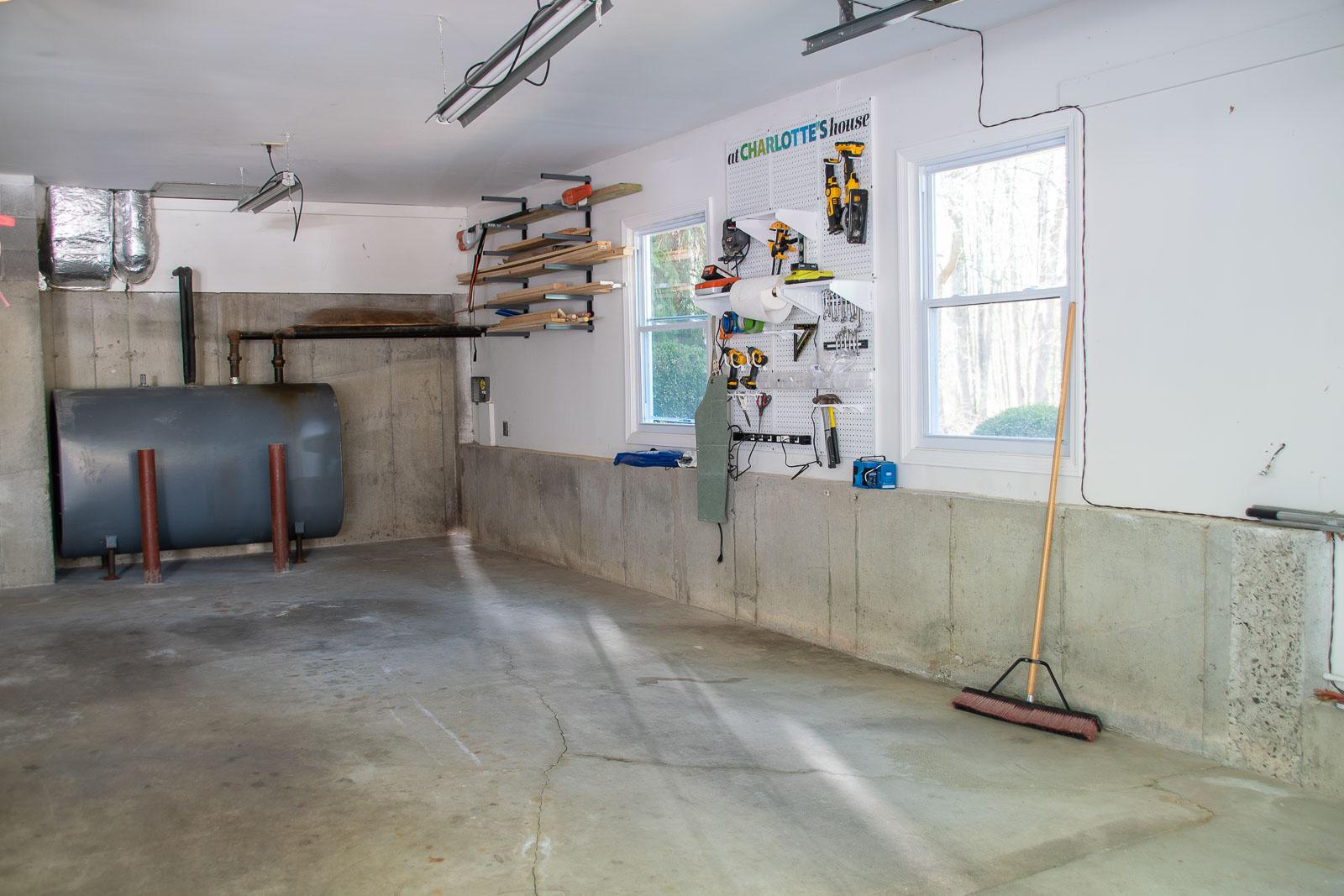 empty garage floor