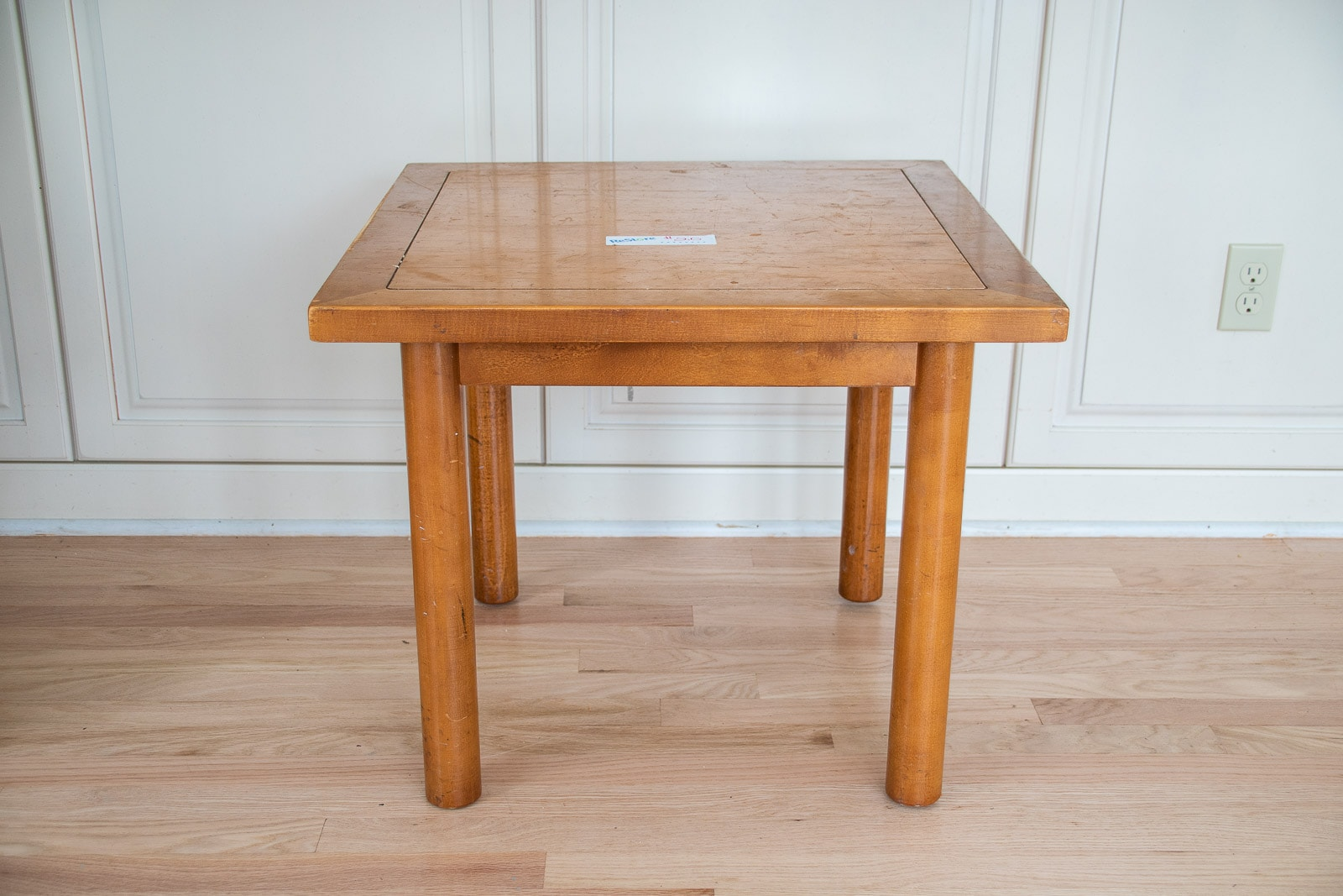 table turned ottoman before