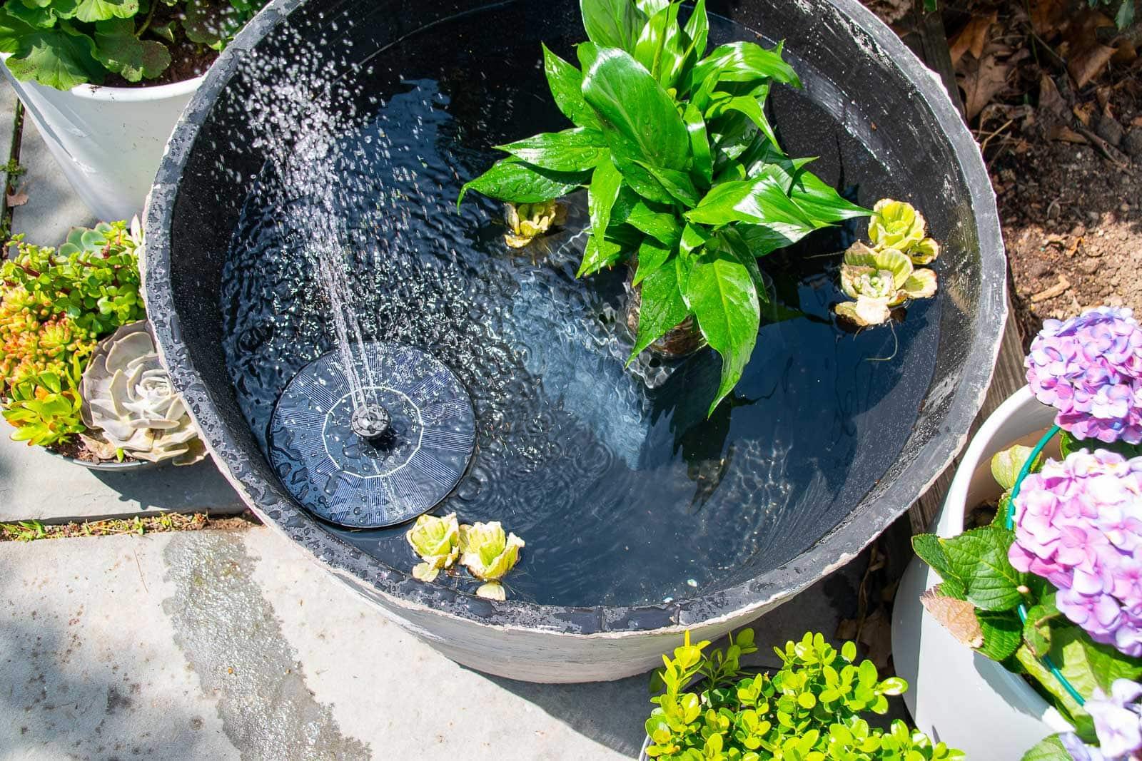 concrete planter fountain