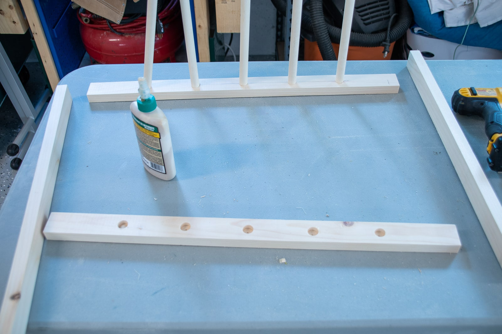 glue and clamp drying rack together