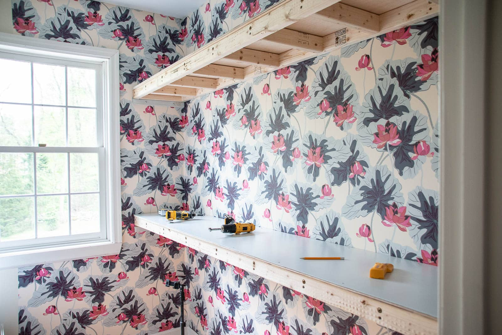 adding plywood to shelves