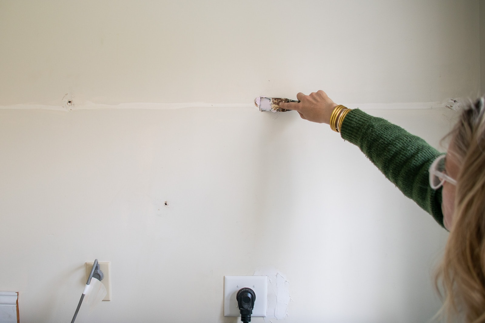prepping walls in laundry room