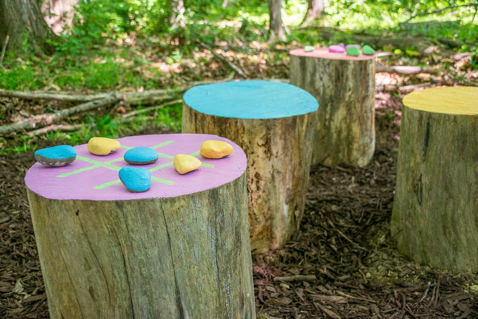 priming and painting stumps