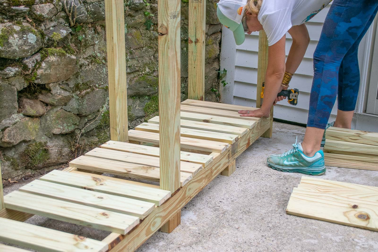 adding floor boards to shed
