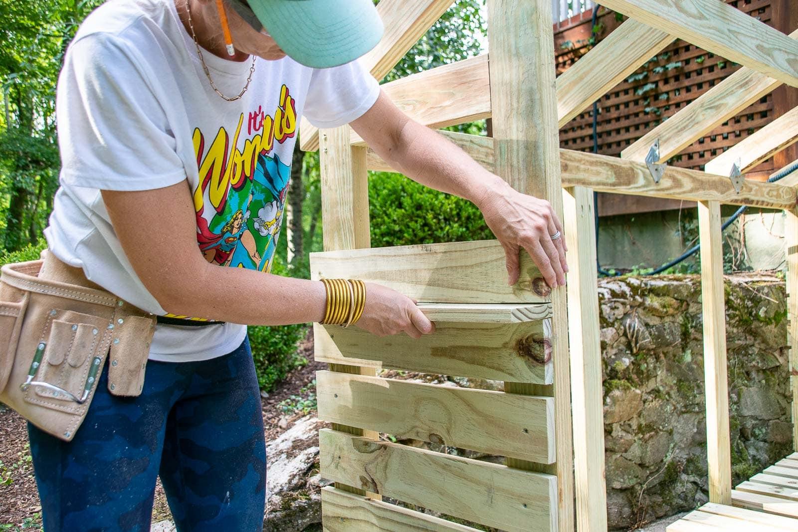 Adding siding to shed