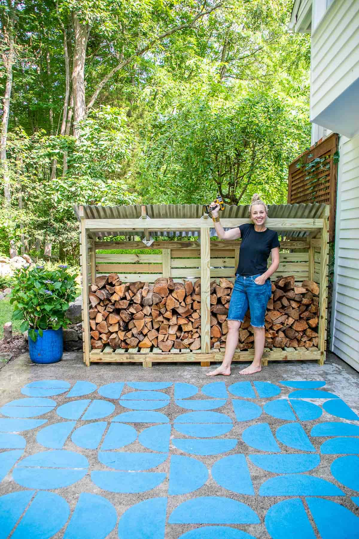 how to make a DIY firewood shed