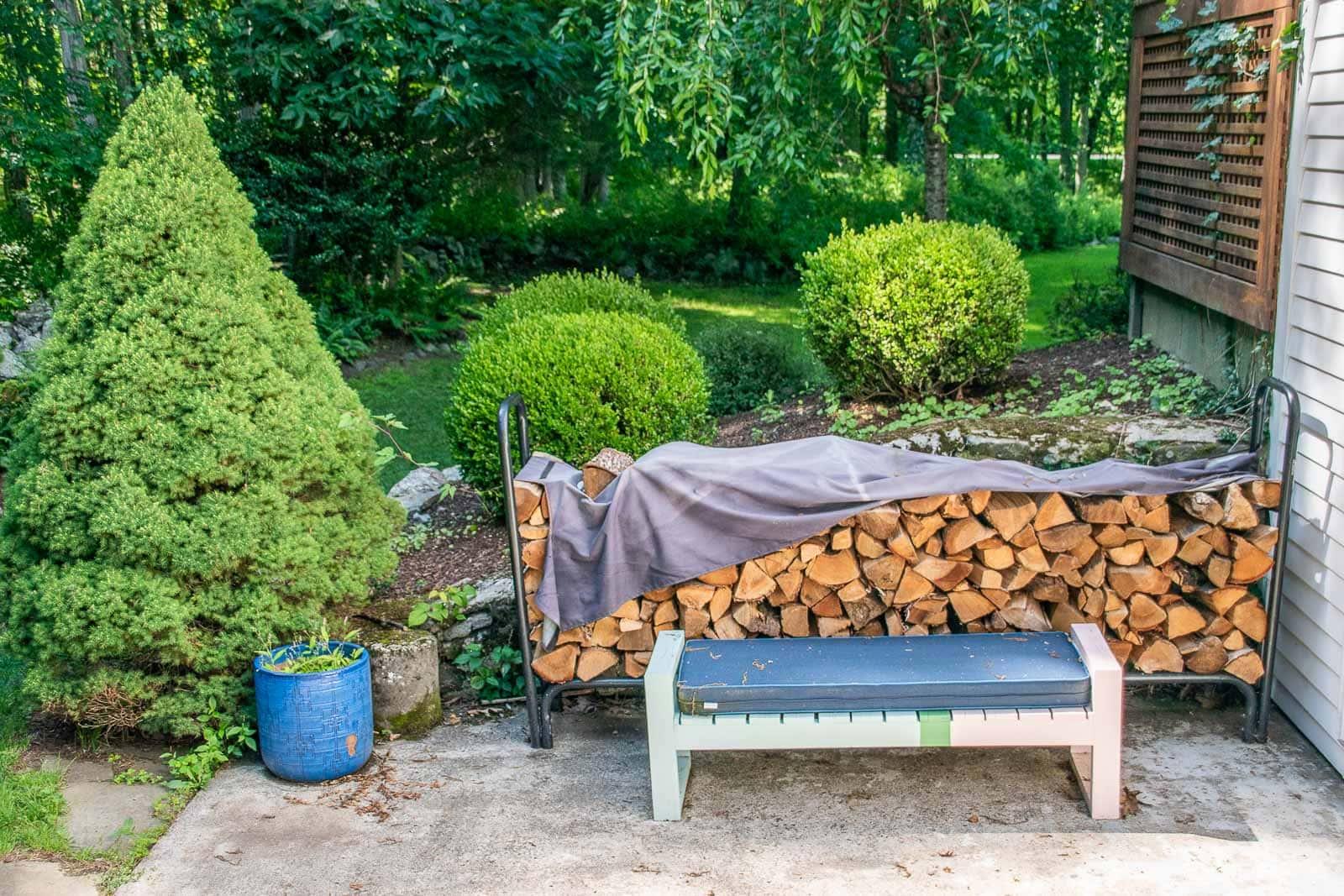 firewood rack before