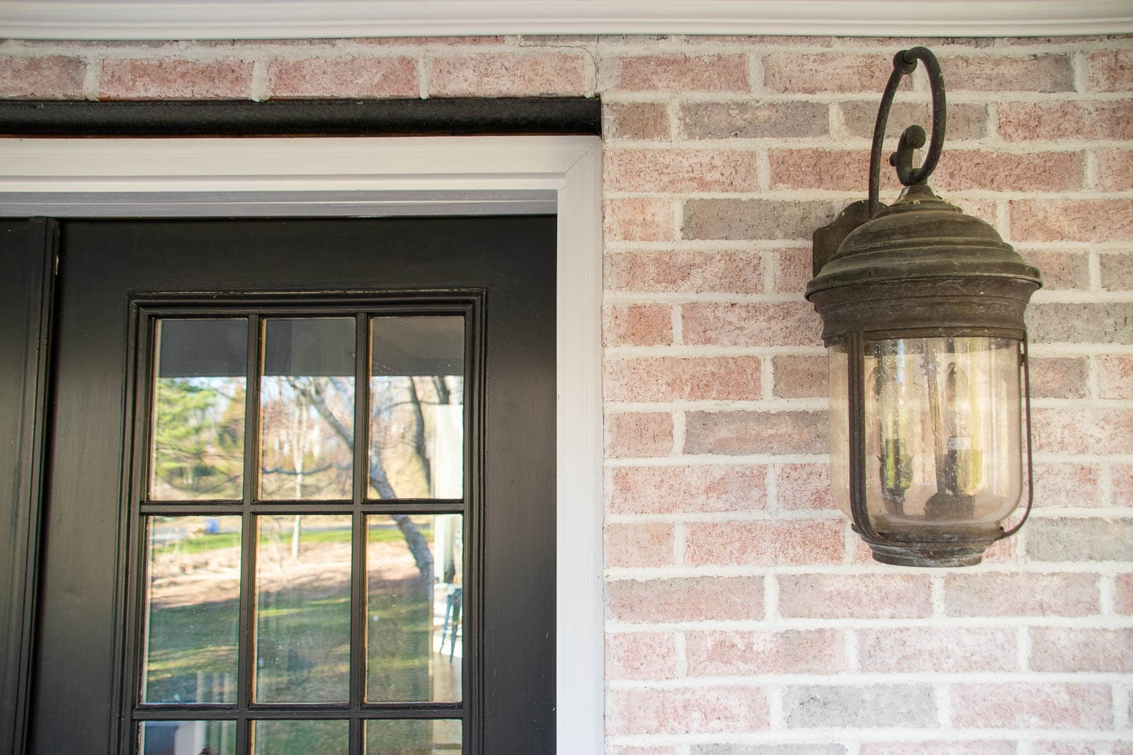 detail of exterior lights