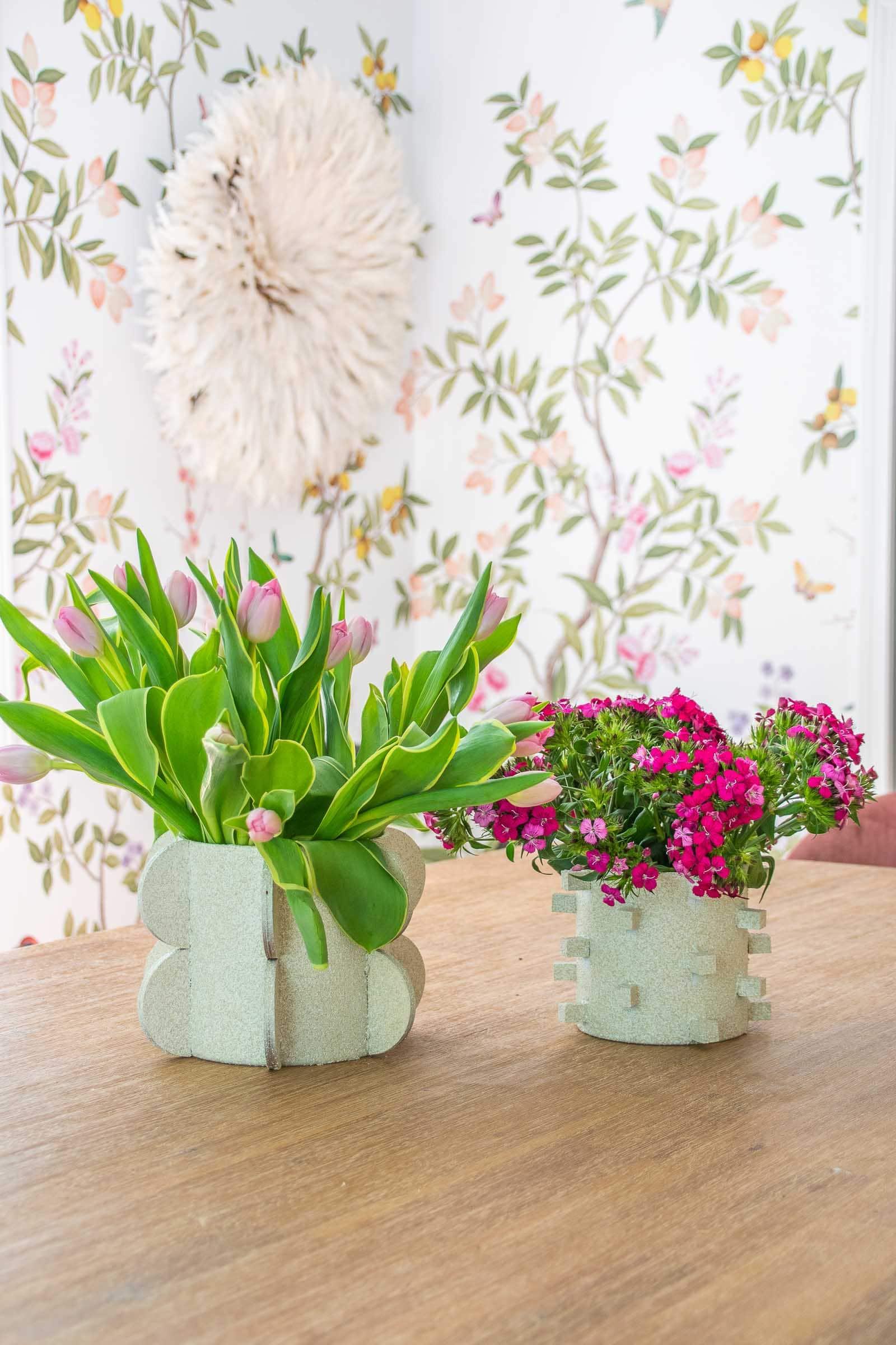 mod shape vases