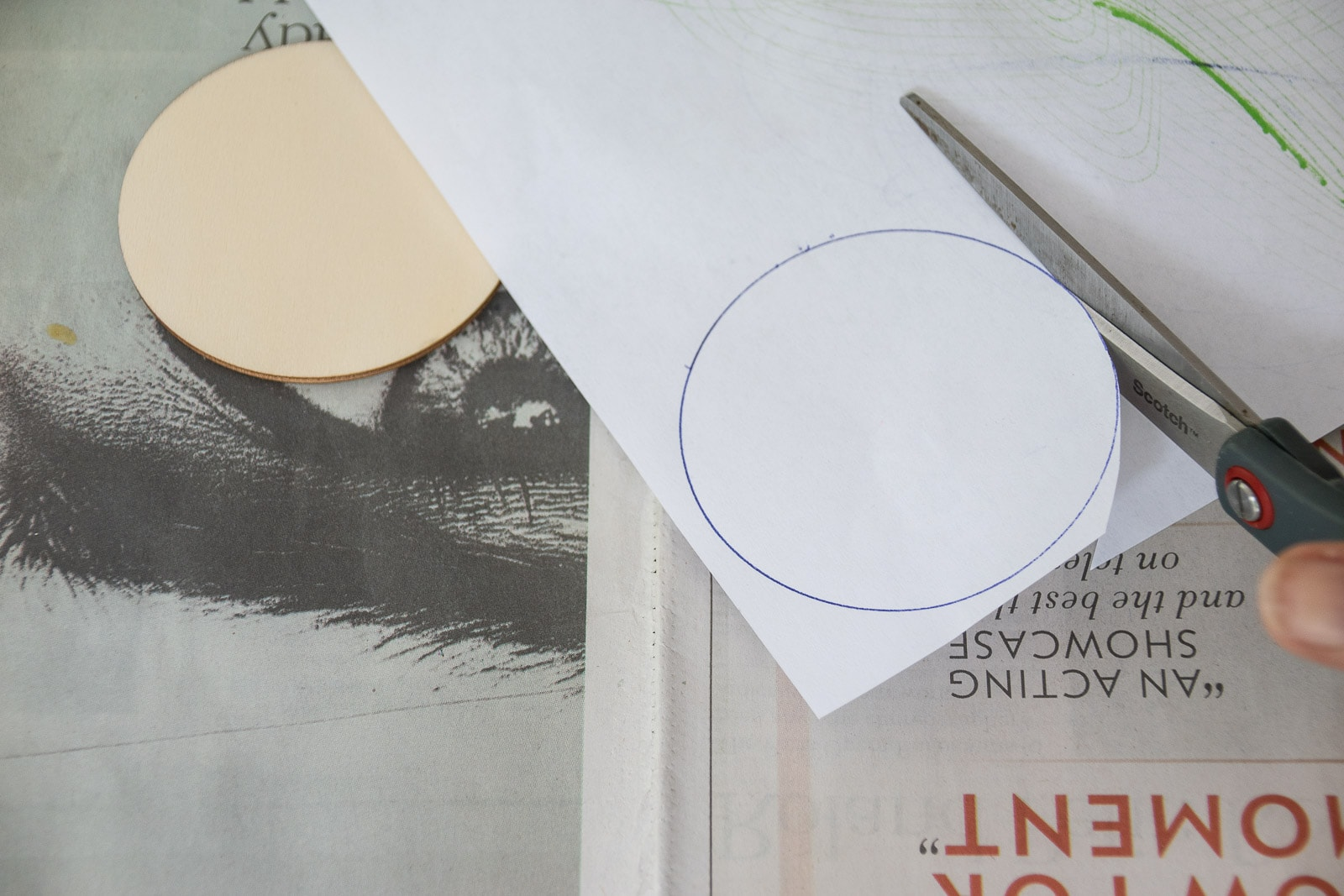 cut circles in half